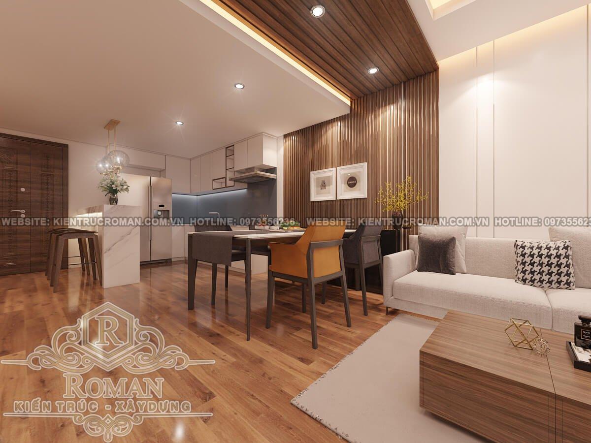 phòng bếp, phòng ăn thiết kế nội thất chung cư hiện đại