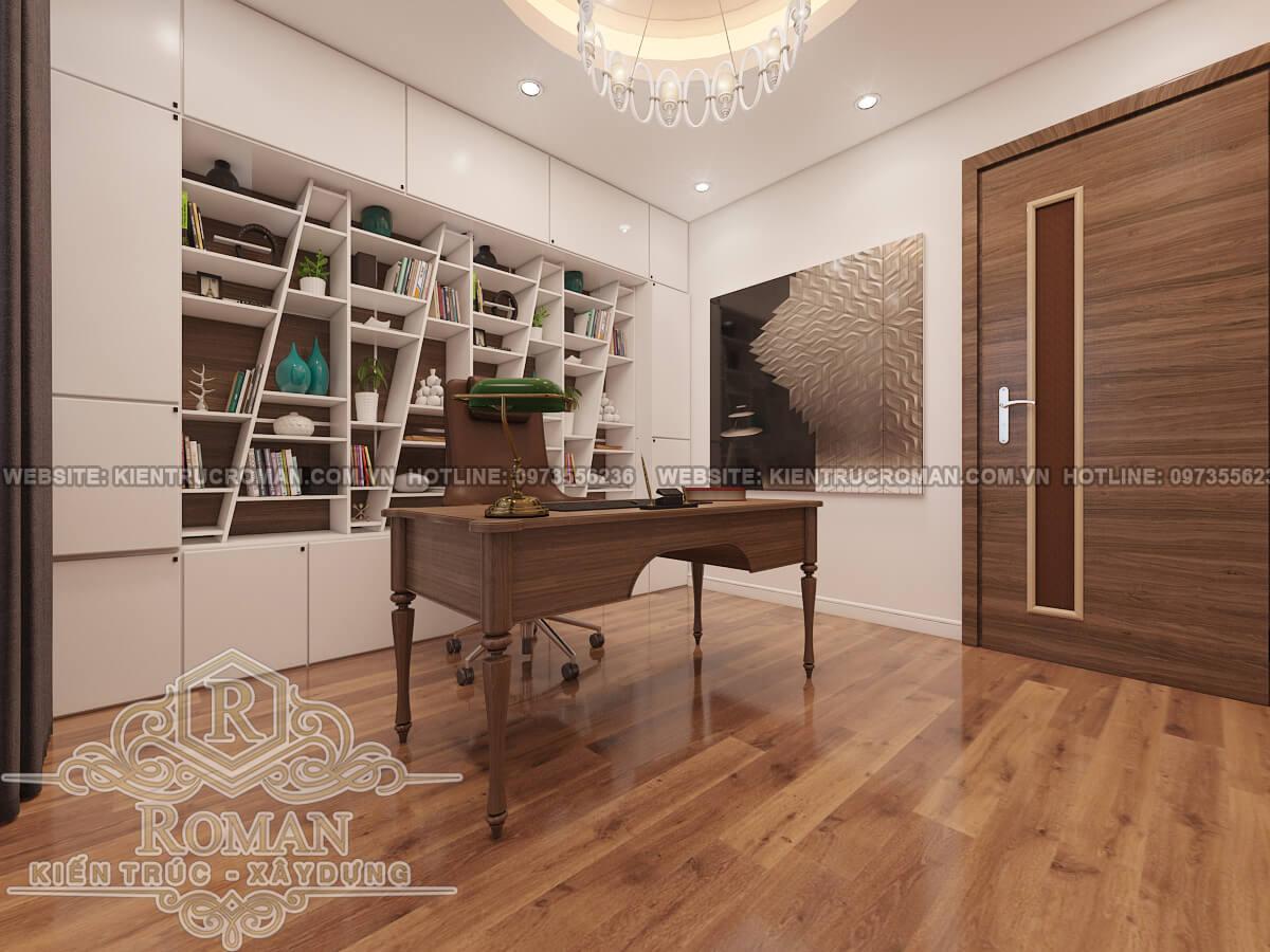 phòng làm việc thiết kế nội thất chung cư hiện đại