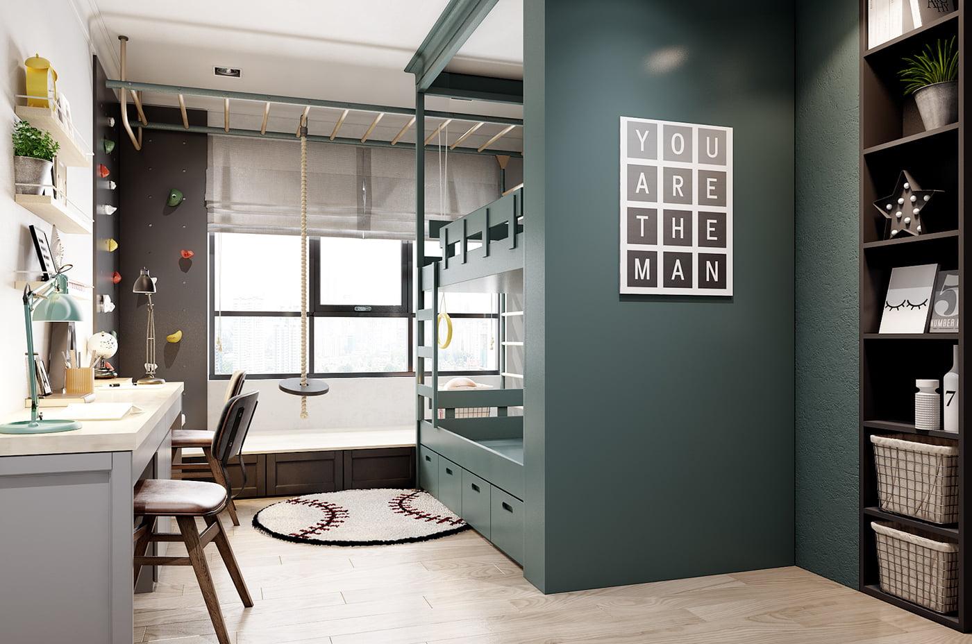 thiết kế nội thất chung cư hiện đại 11