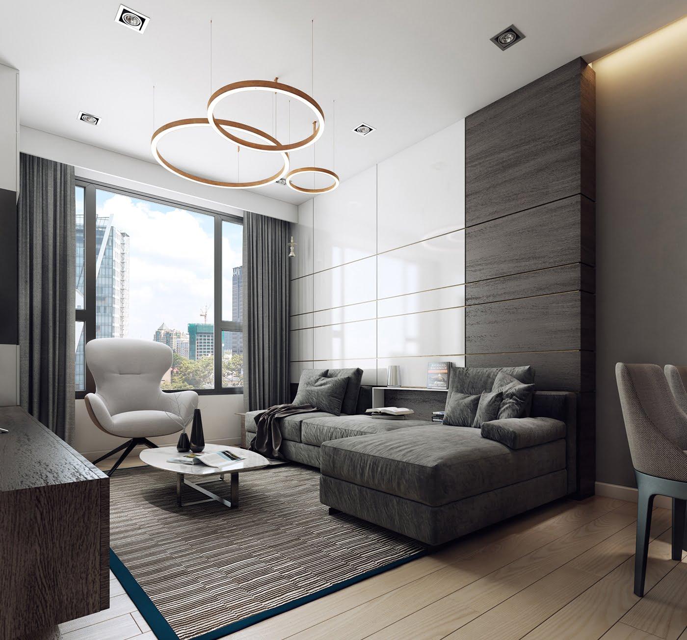 thiết kế nội thất chung cư hiện đại 13