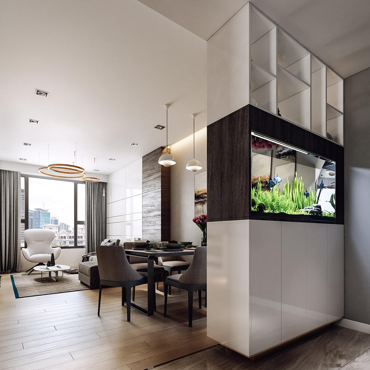 thiết kế nội thất chung cư hiện đại 14