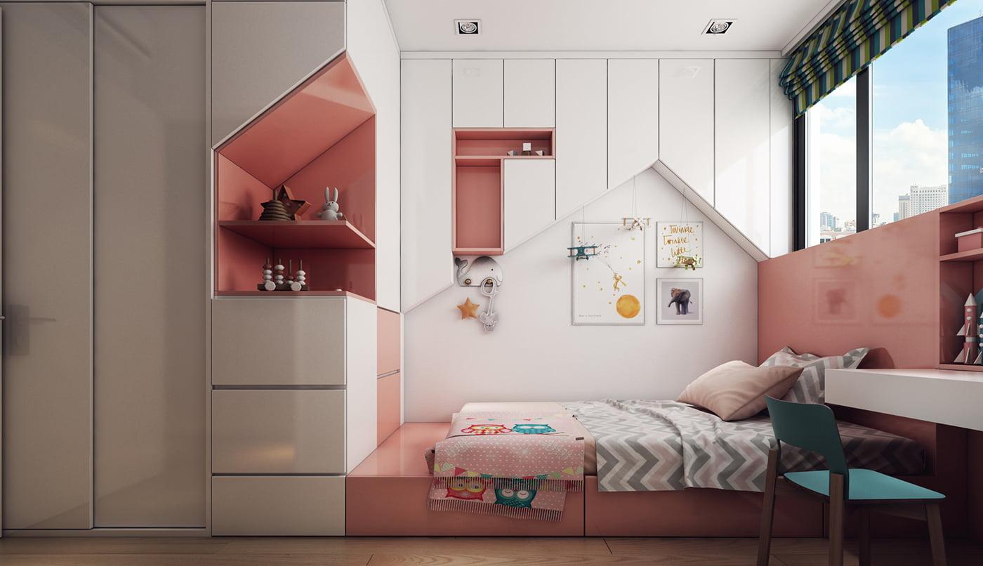 thiết kế nội thất chung cư hiện đại 24