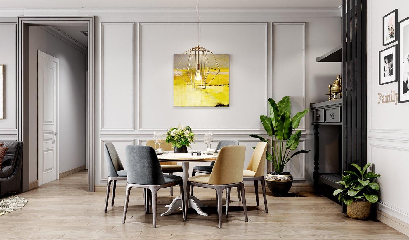 thiết kế nội thất chung cư hiện đại 5