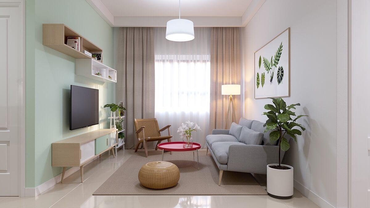 thiết kế nội thất chung cư nhỏ 40m2 6