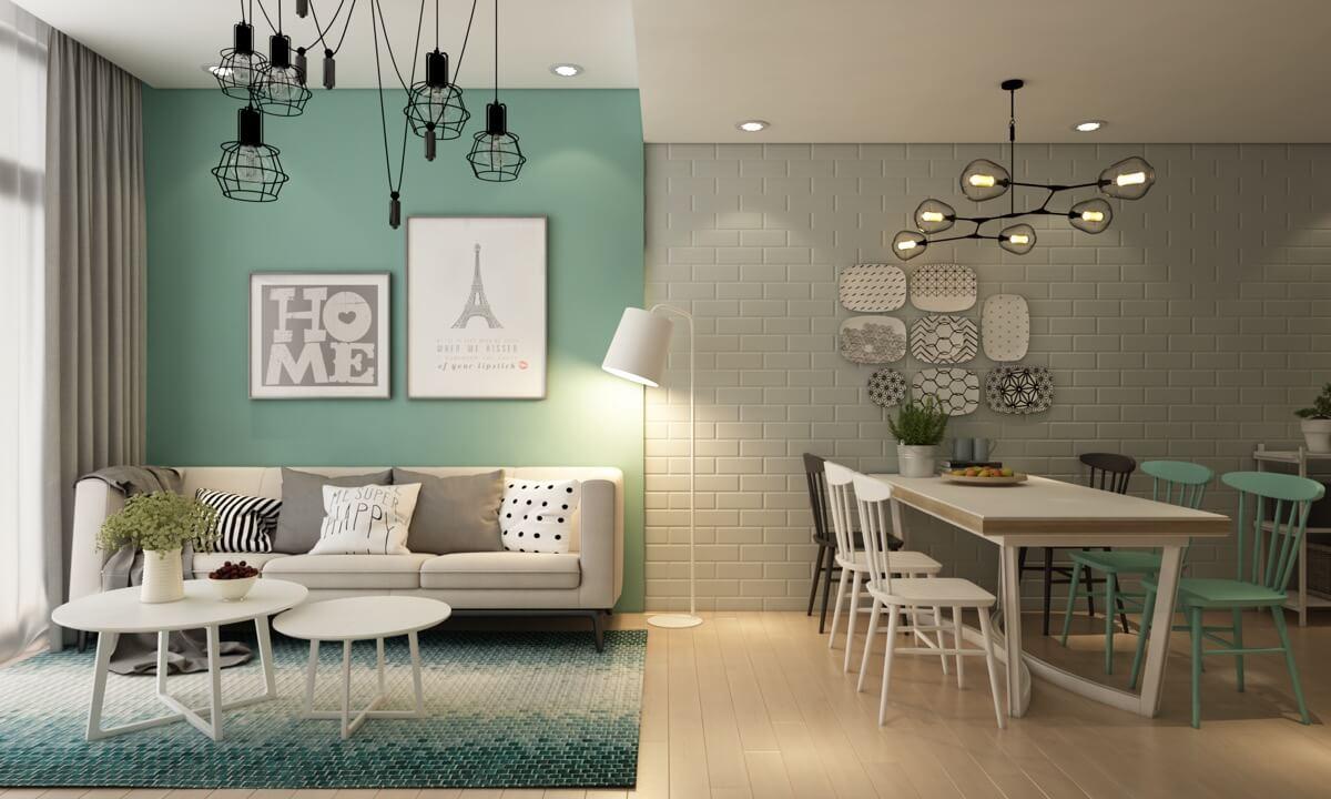 thiết kế nội thất chung cư nhỏ 50m2 11