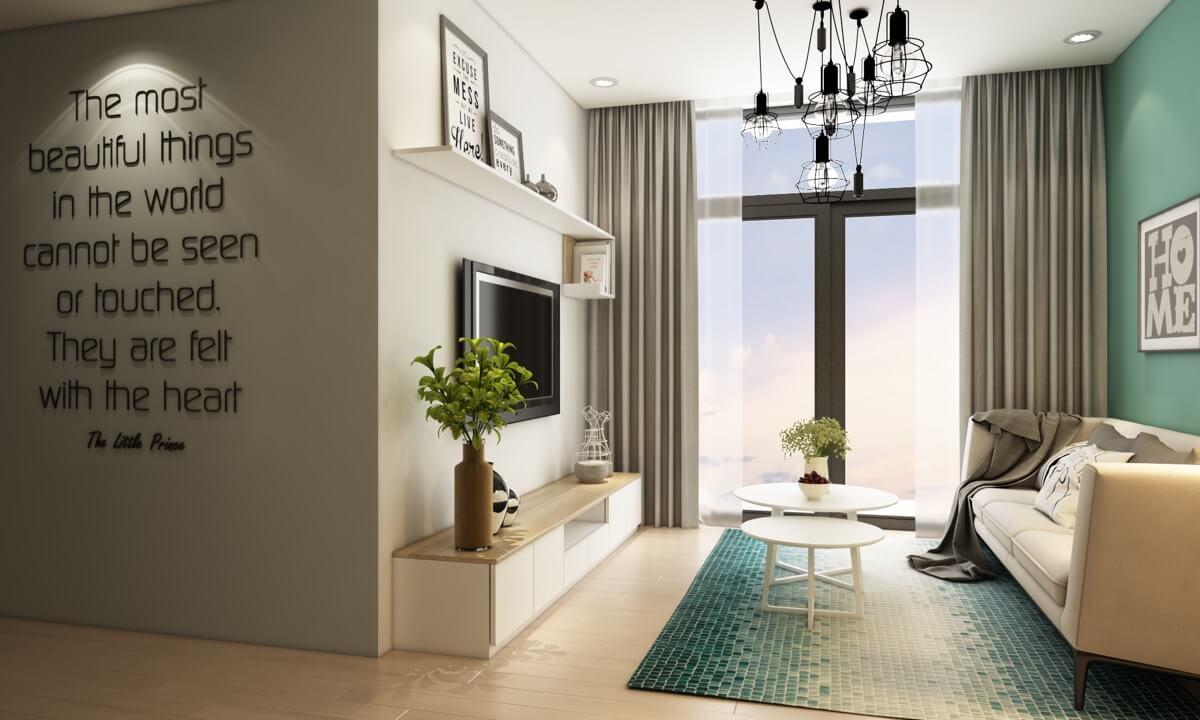 thiết kế nội thất chung cư nhỏ 50m2 12