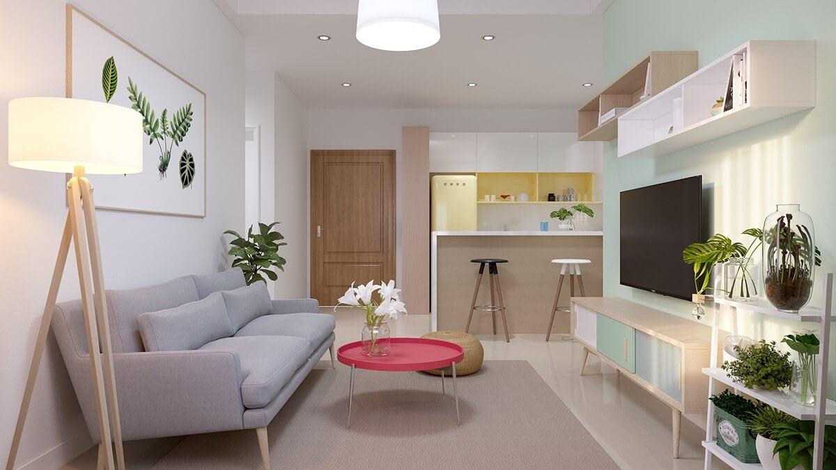 thiết kế nội thất chung cư nhỏ 30m2 2