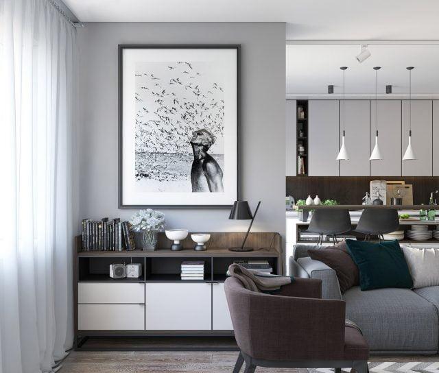 thiết kế nội thất chung cư nhỏ 60m2 21