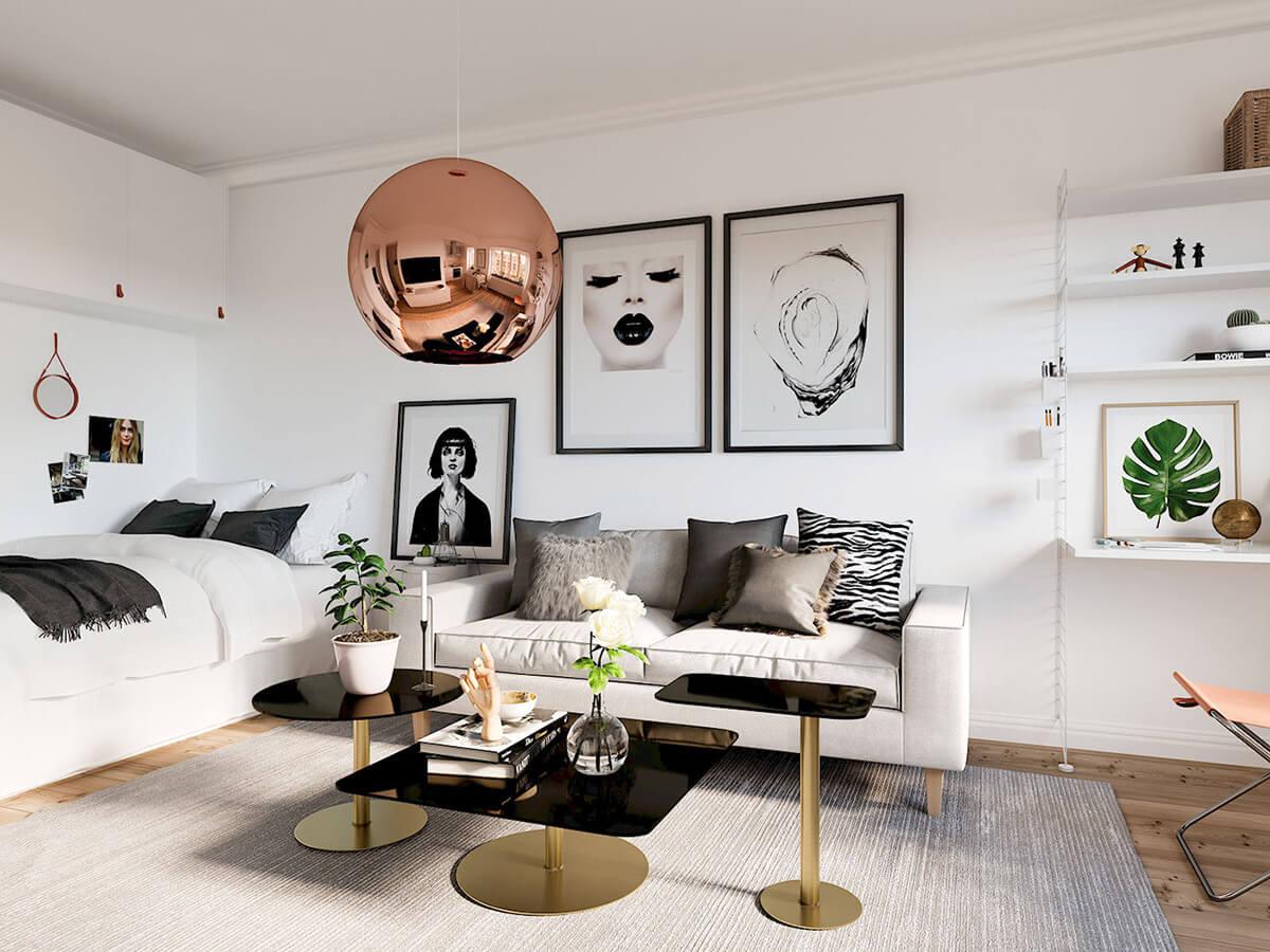 thiết kế nội thất chung cư nhỏ 30m2 3