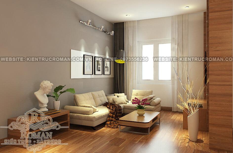 thiết kế nội thất phòng khách chung cư 4