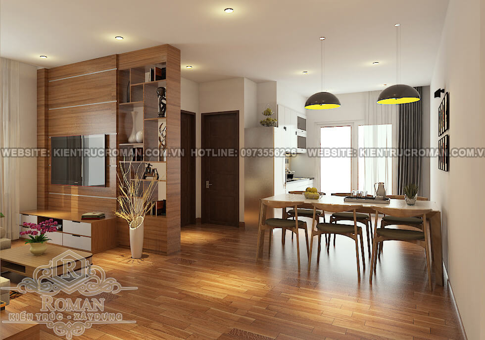 phòng khách thiết kế nội thất nhà chung cư hiện đại