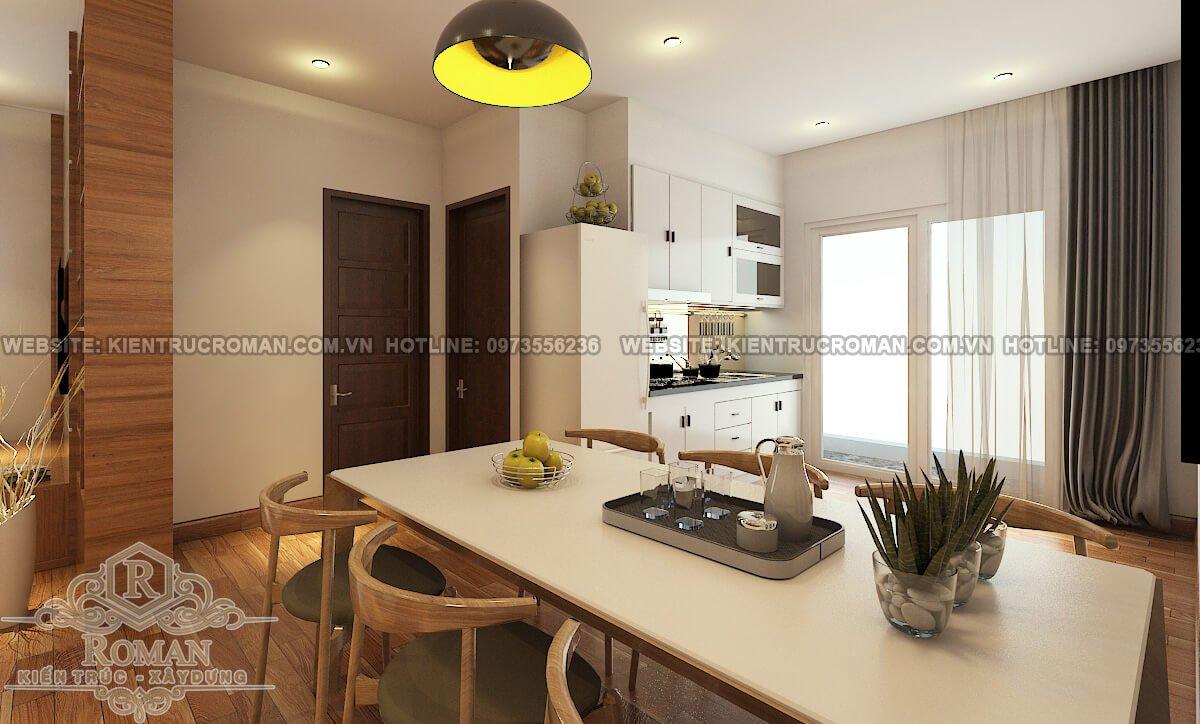 phòng ăn thiết kế nội thất chung cư hiện đại