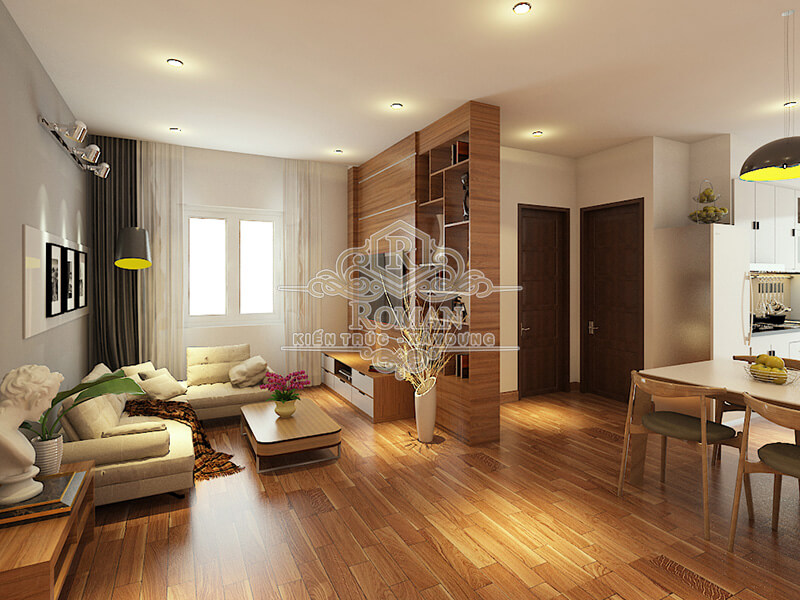 thiết kế nội thất nhà chung cư hiện đại