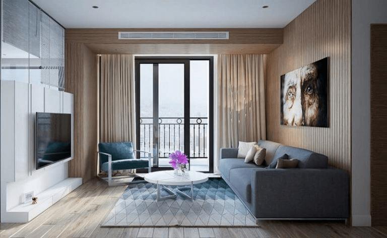 thiết kế nội thất phòng khách chung cư 1