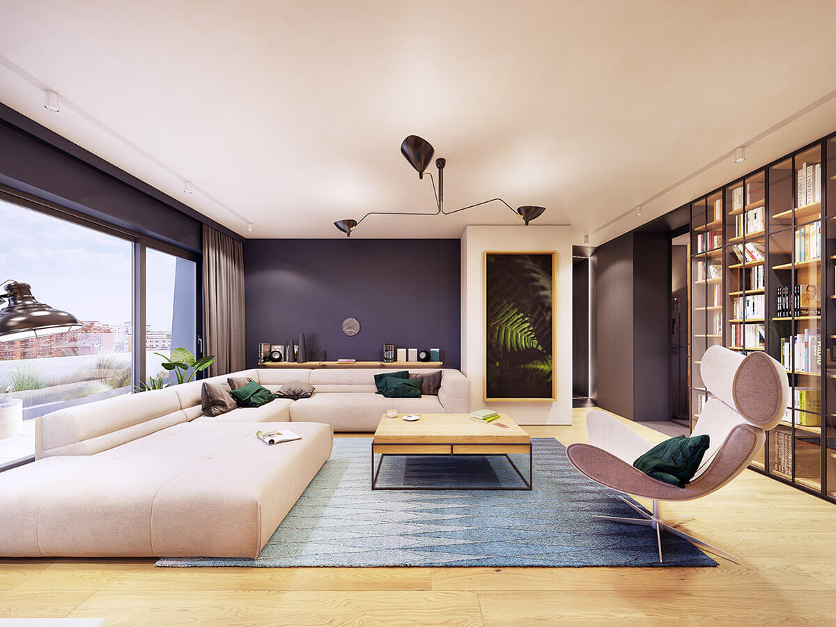 thiết kế nội thất phòng khách chung cư 9