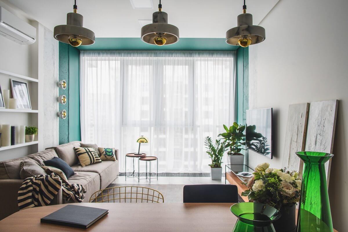 thiết kế nội thất phòng khách chung cư 14