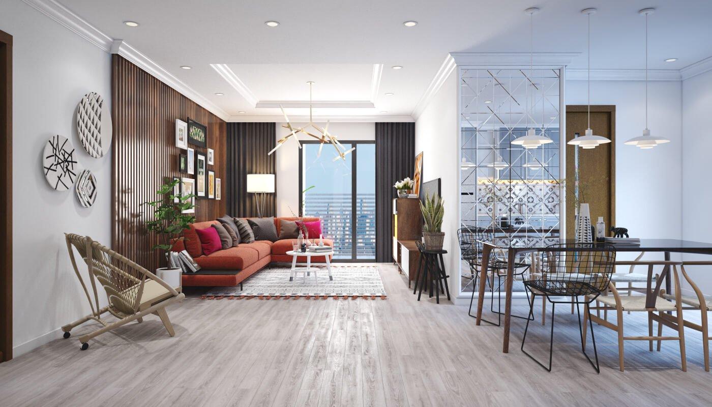 thiết kế nội thất phòng khách chung cư 11