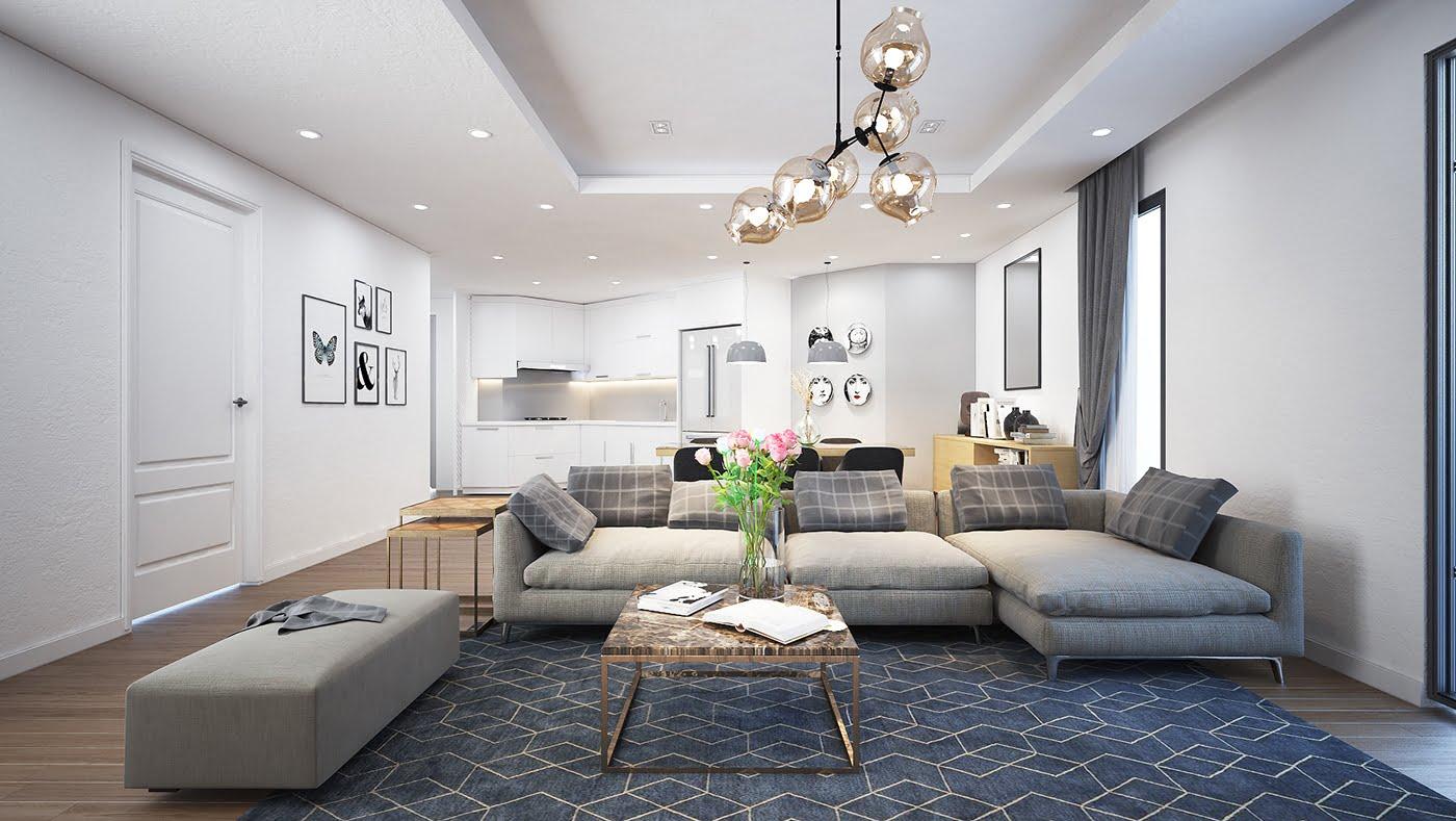 thiết kế nội thất phòng khách chung cư 13