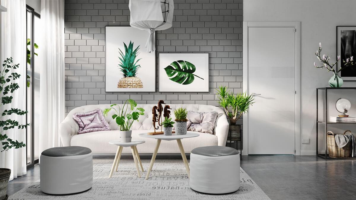 thiết kế nội thất phòng khách chung cư 15