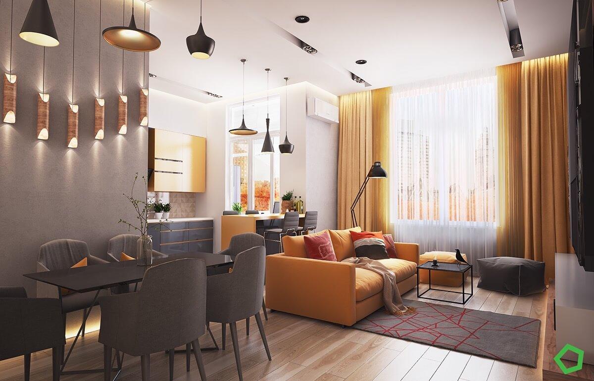 thiết kế nội thất phòng khách chung cư 18