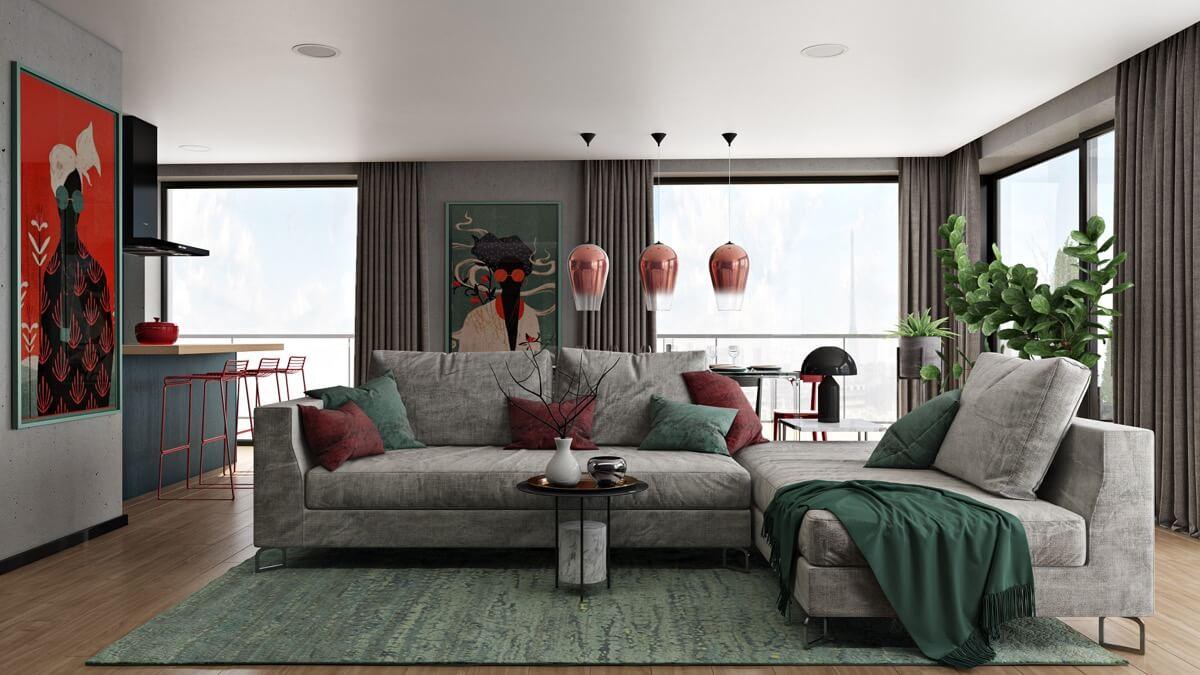 thiết kế nội thất phòng khách chung cư 19
