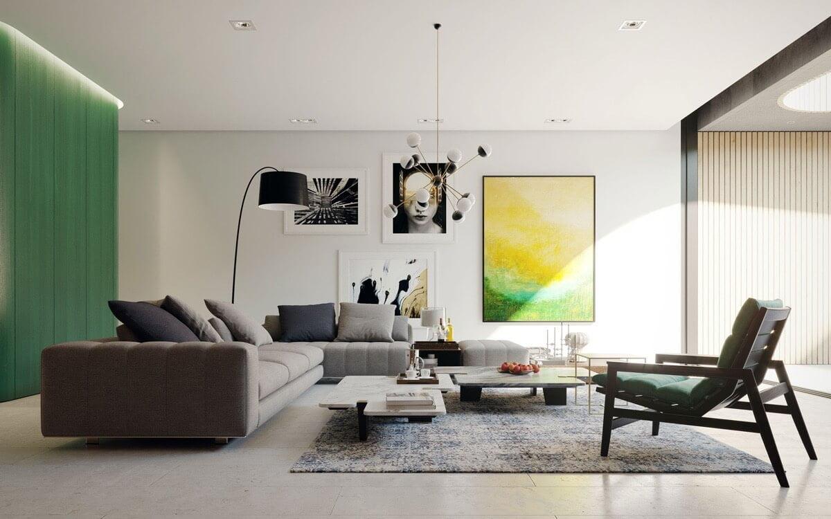 thiết kế nội thất phòng khách chung cư 20