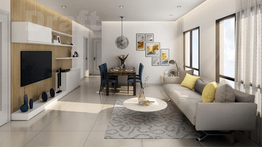 thiết kế nội thất phòng khách chung cư 2