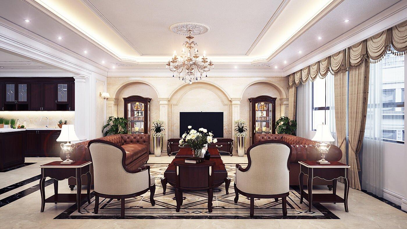 thiết kế nội thất phòng khách chung cư 23