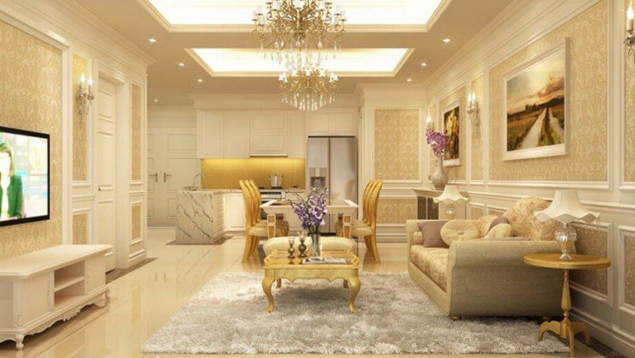 thiết kế nội thất phòng khách chung cư 24