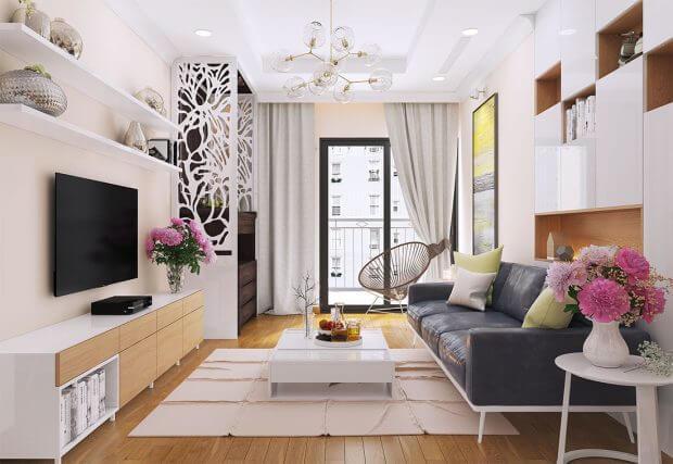 thiết kế nội thất phòng khách chung cư 3