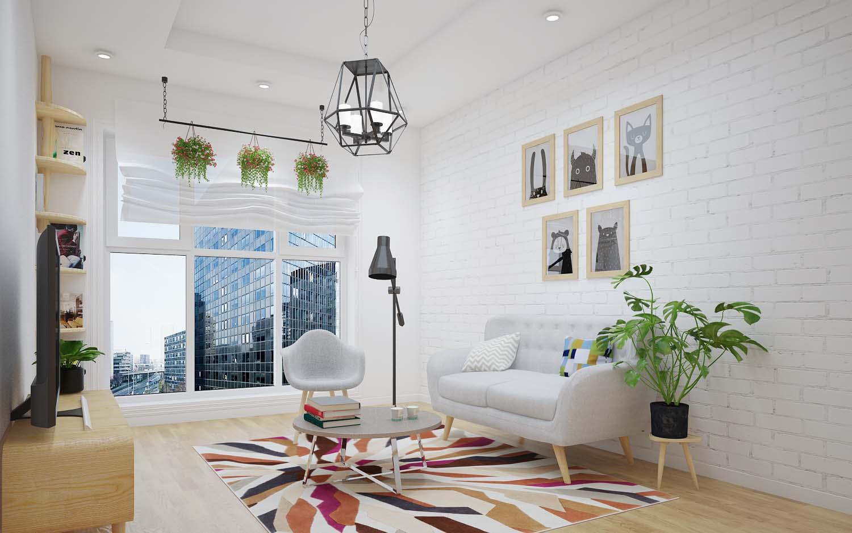 thiết kế nội thất phòng khách chung cư 5
