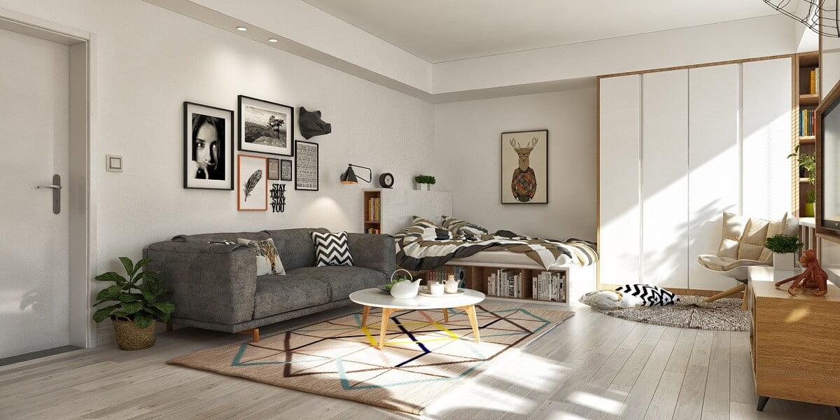 thiết kế nội thất phòng khách chung cư 6