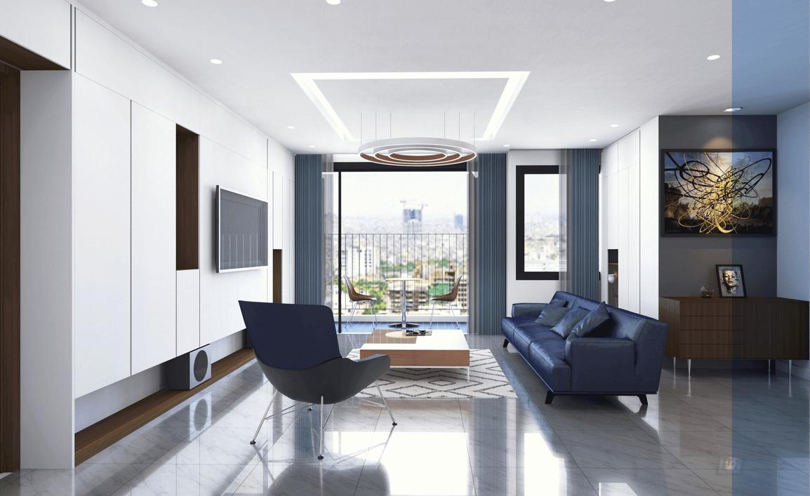 thiết kế nội thất phòng khách chung cư 8