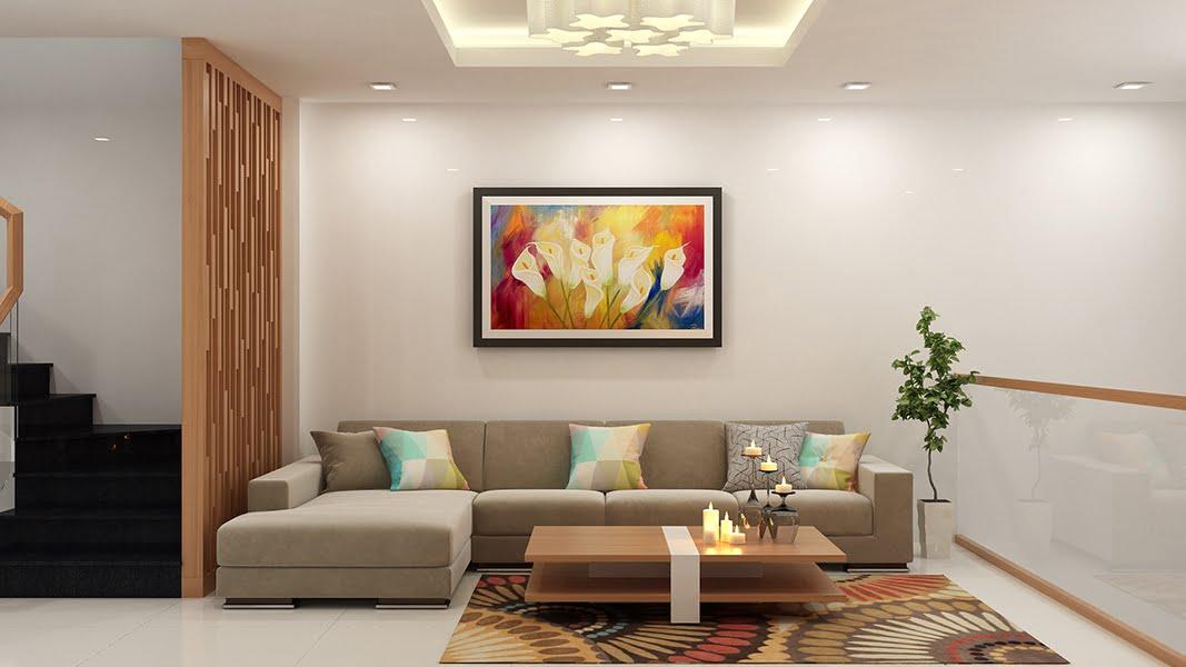 thiết kế nội thất phòng khách nhà ống 7