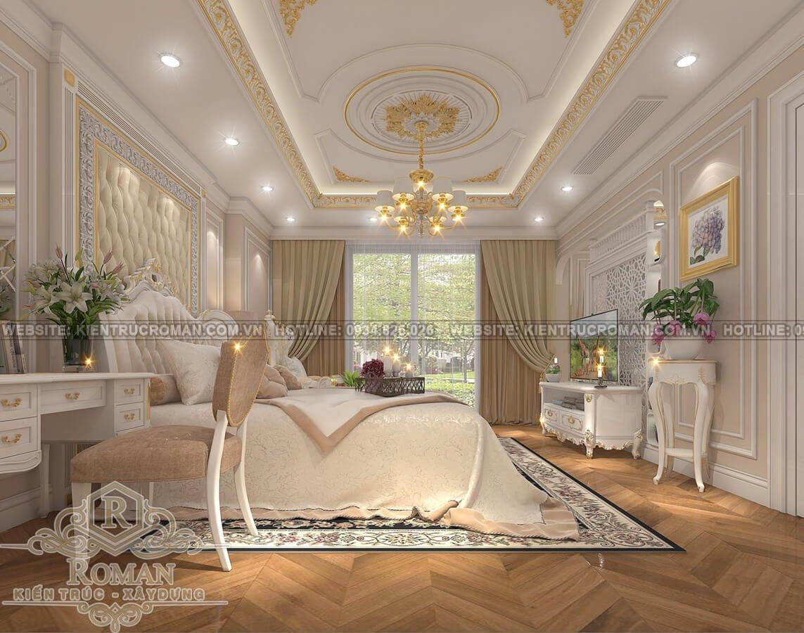 thiết kế penthouses 2 tầng đẹp phòng ngủ