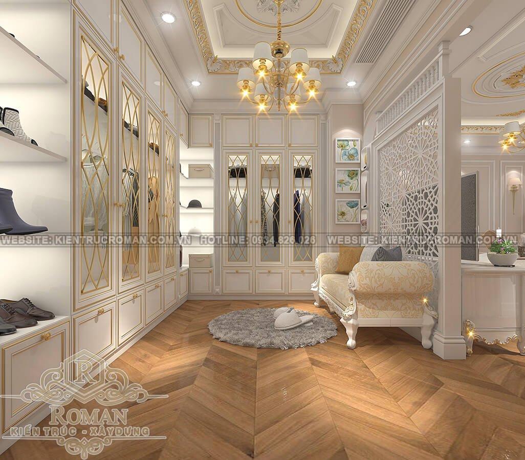 thiết kế penthouses 2 tầng đẹp phòng thay đồ