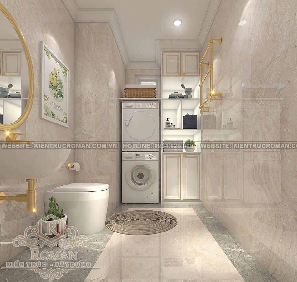 thiết kế penthouses 2 tầng đẹp phòng tắm
