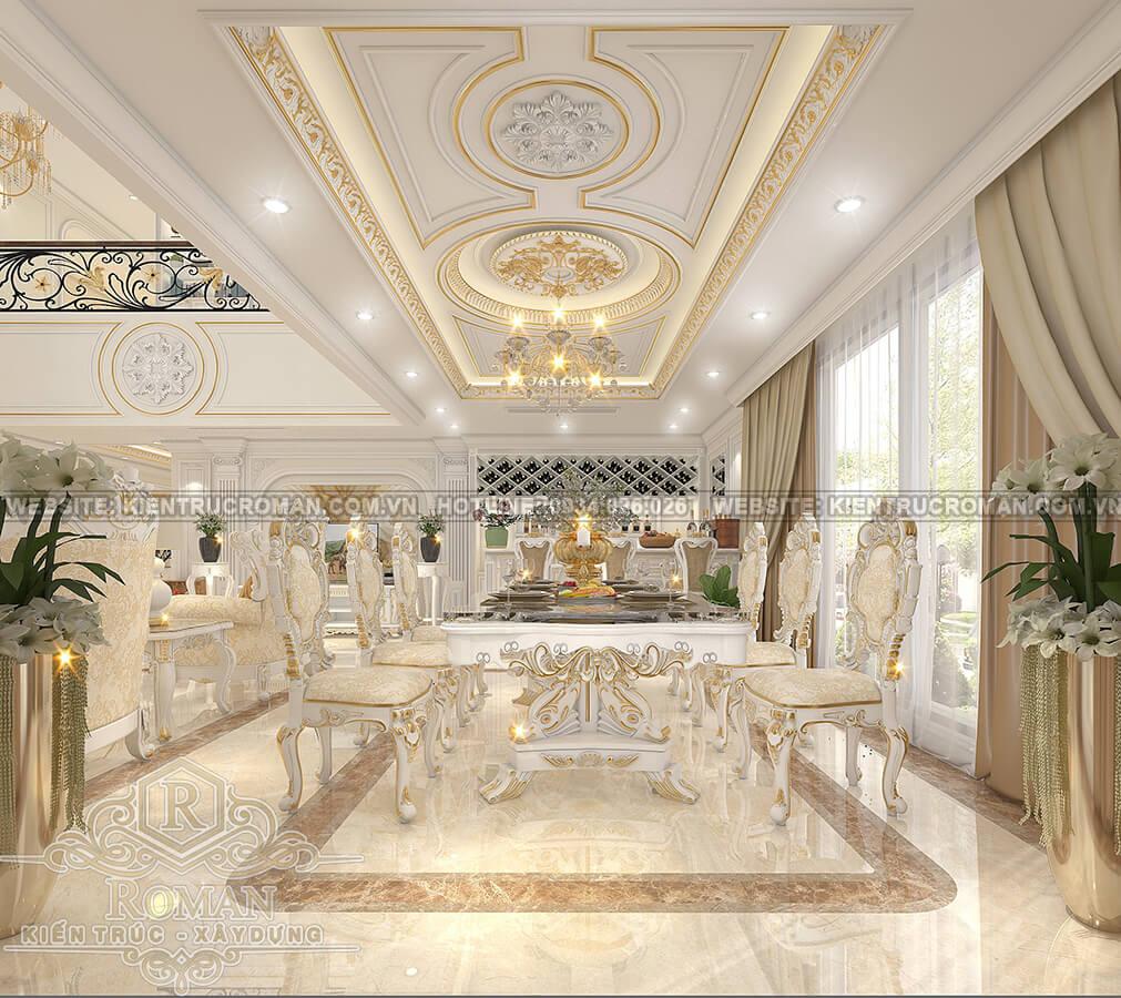 thiết kế penthouses 2 tầng đẹp phòng ăn