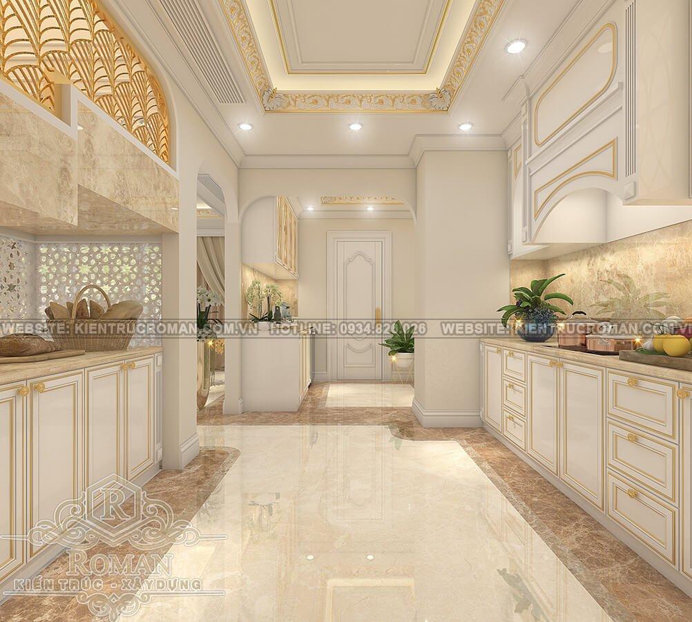 thiết kế penthouses 2 tầng đẹp nhà bếp
