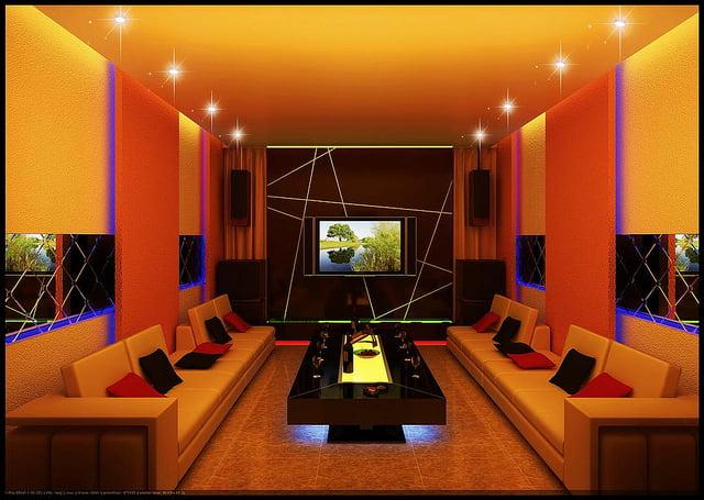 thiết kế phòng karaoke gia đình 1