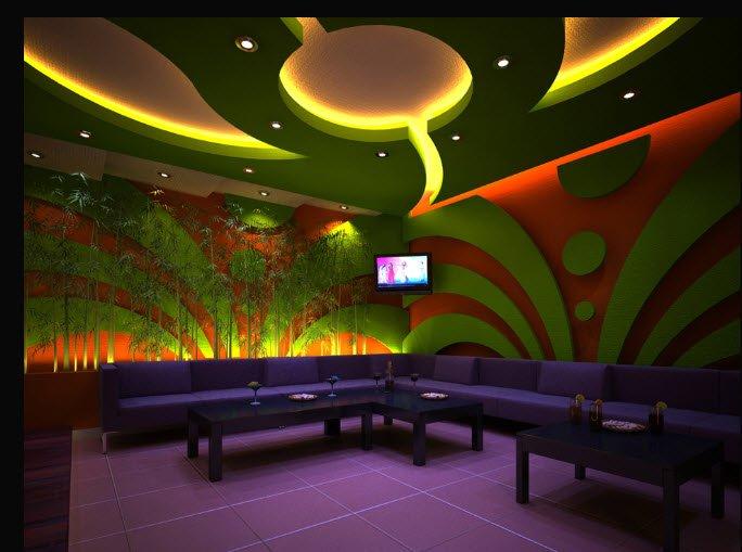 thiết kế phòng karaoke phong cách hiện đại 2