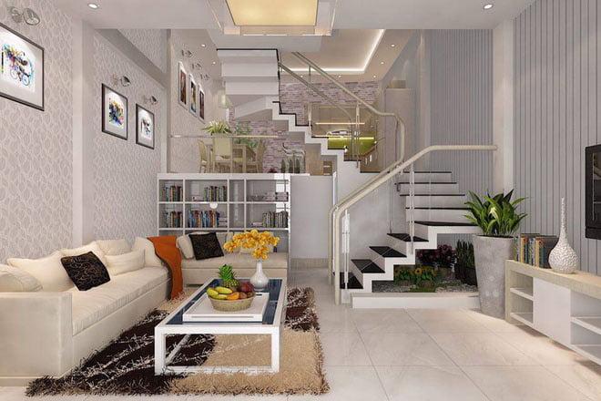 thiết kế phòng khách đẹp cho nhà ống 18