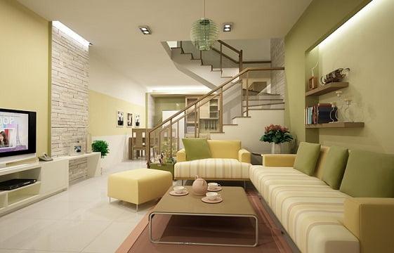 thiết kế phòng khách đẹp cho nhà ống 4