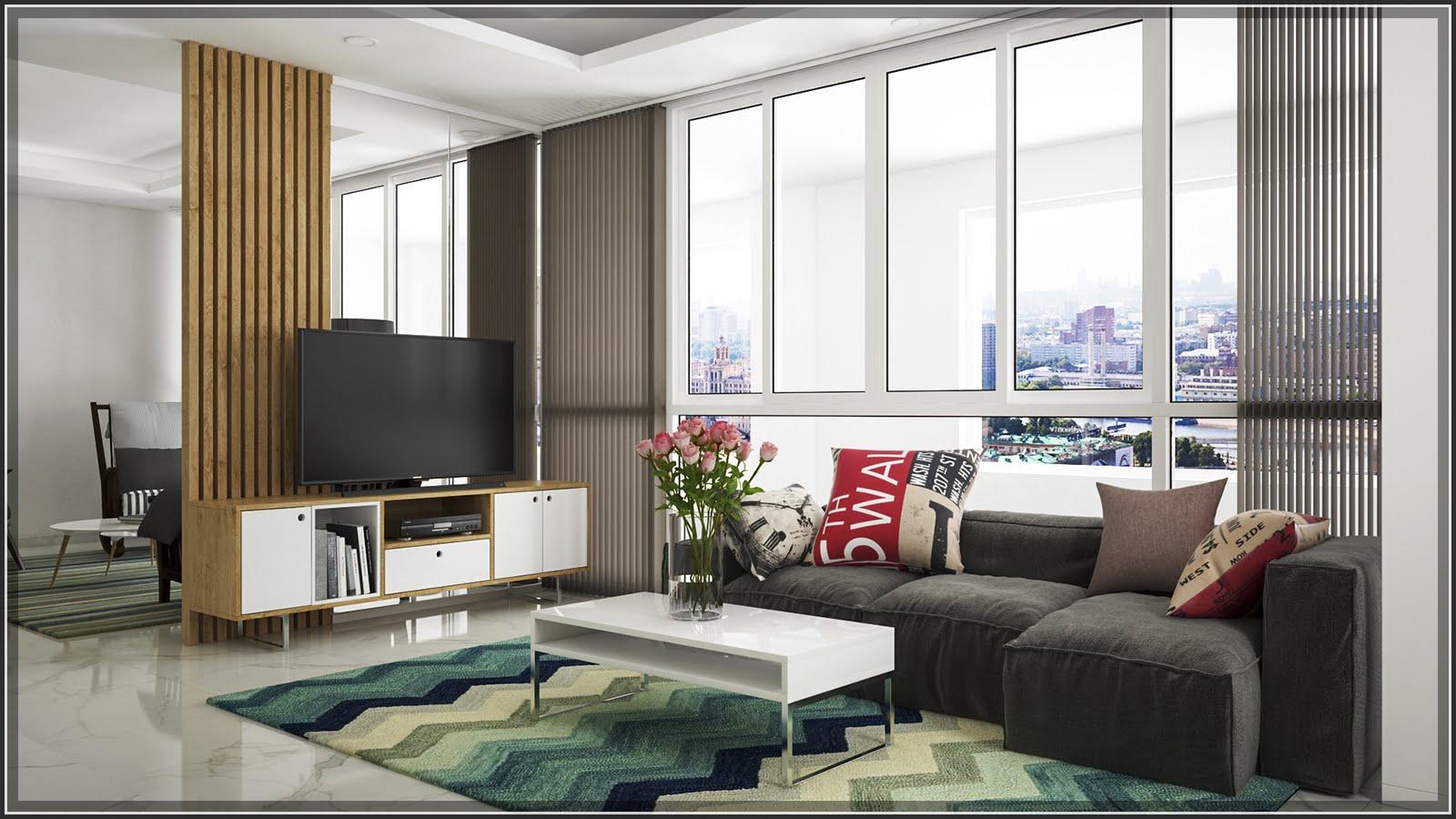 thiết kế phòng khách đẹp cho nhà ống 5
