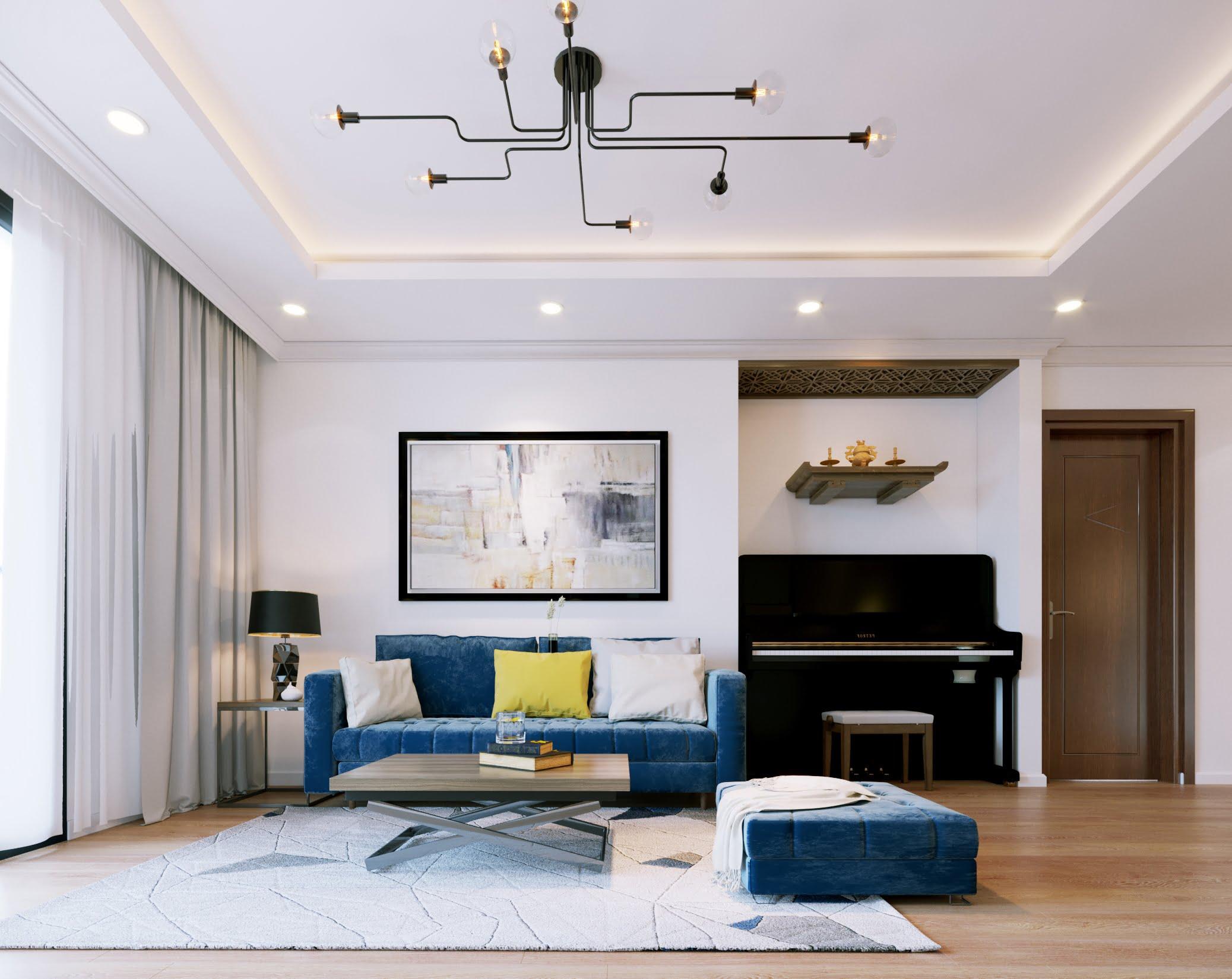 thiết kế phòng khách nhỏ 12