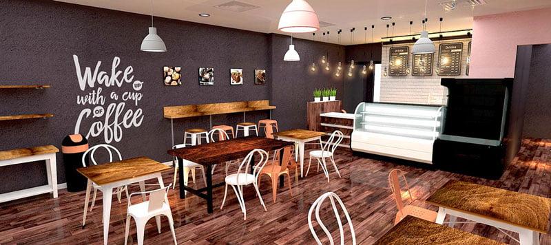 thiết kế quán cafe bình dân 2