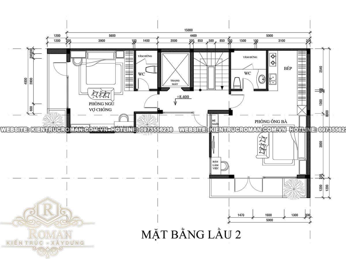 lầu 2 thiết kế quán cafe đẹp kết hợp với nhà ở