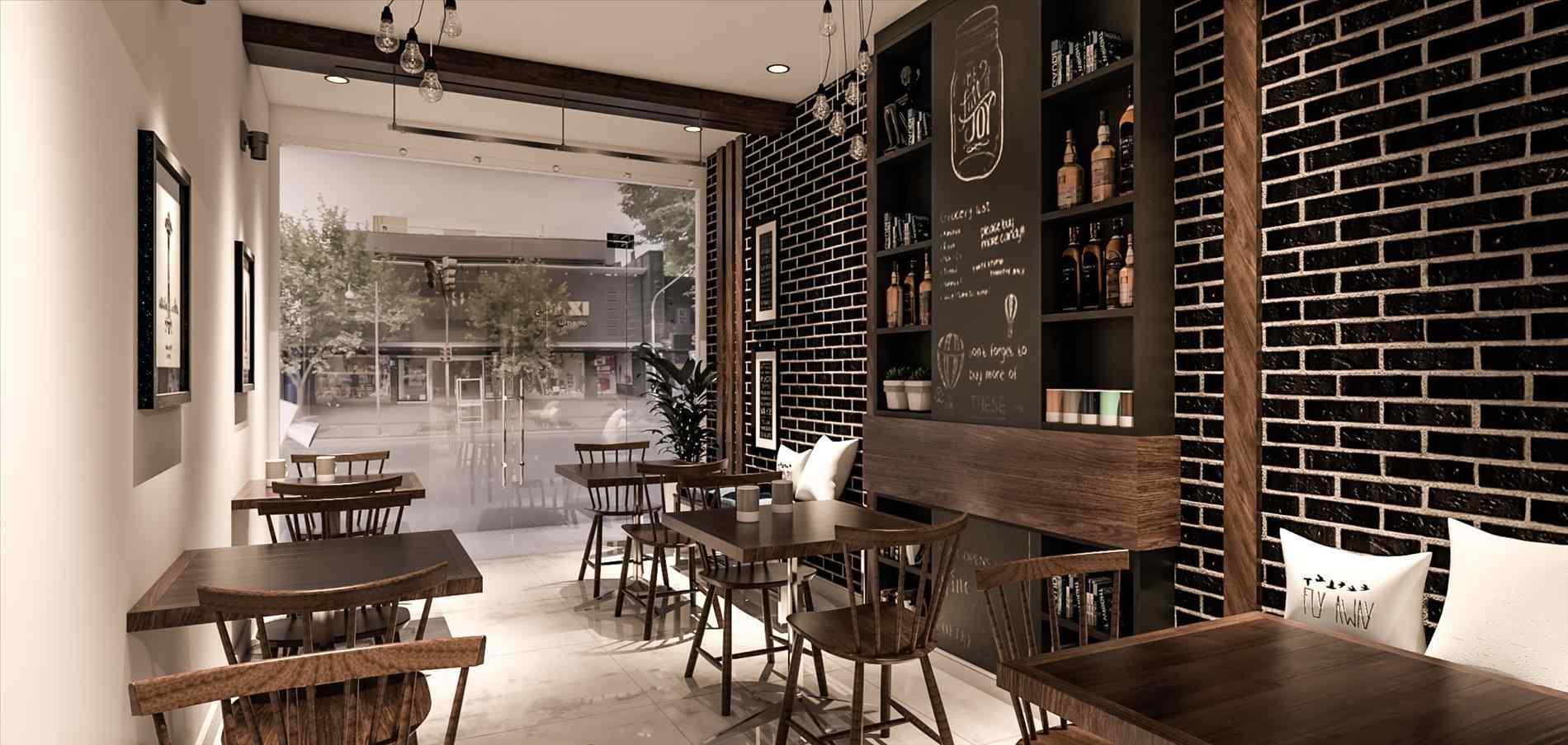 mẫu thiết kế quán cafe đơn giản thịnh hành hiện nay 1