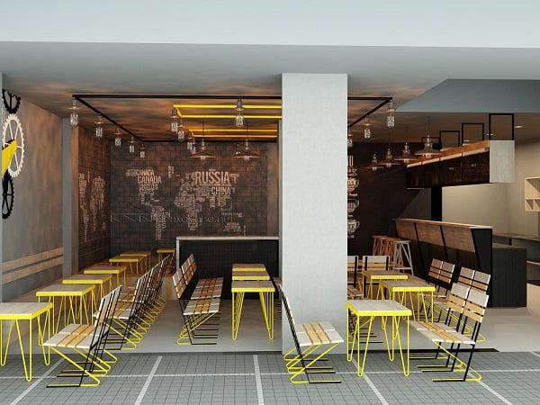 thiết kế quán cafe giá rẻ đẹp 1