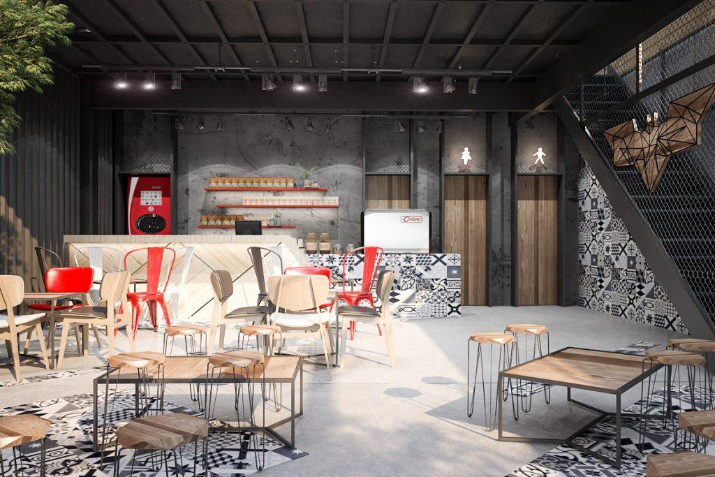 thiết kế quán cafe giá rẻ đẹp 7